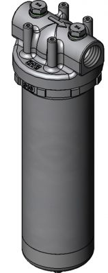 Easy installation with the 1FU single cartridge filter housing for liquids.