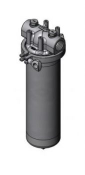 acuraLine 1FUC single cartridge filter housing, constructed from stainless steel.