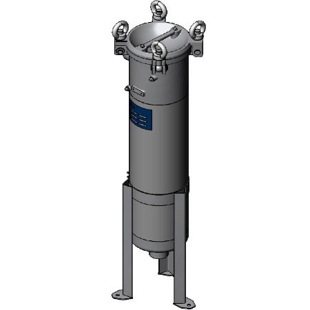 Bag filter housing, combines high flow rate capabilities with industrial strength.