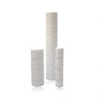 String wound filter cartridges provide excellent filtration in water, chemicals, oils and fuels.