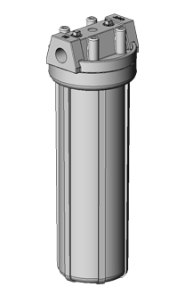 PP filter housing which is suitable for hygienic applications.