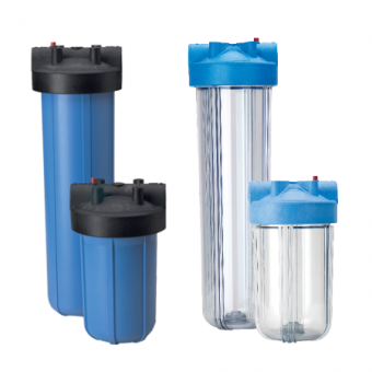 PORALine Big Clear and Big Blue Filter Housing options.