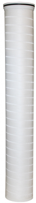 High flow filter and high flow filter cartridges for Cryptosporidium removal.