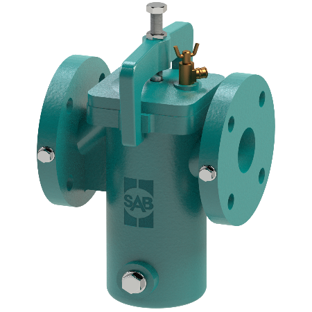 Cast iron strainer that provides a cost-effective solution for coarse filtration.